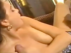 girl, beauty, double, blowjob, threesome, lipstick, hardcore, european, pink, big cock, on, brunette, fuck, doggystyle,