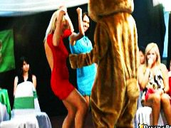 group, dance, on, babes, bear, naked