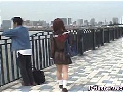 student, lovely, shocks, outdoor, japanese, flash, public