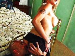 interracial, blond, anal, shemale