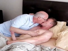 kissing, older, sucking, mature, home, jerking off