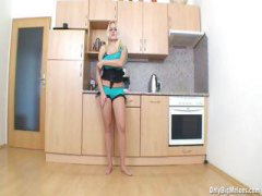 blonde, horny, big, babe, toys, masturbation, masturbating, pamela, gets, kitchen