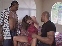 group sex, interracial, blowjob, husband, double fucking, anal, cumshot