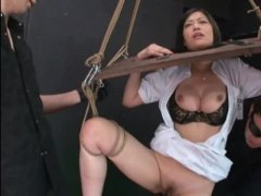 bdsm, humiliation, uniform, asian, pussy play, nurse, story, yoke, breast play, japanese