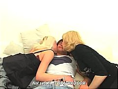 pussies, getting, blondes, blowing, take, nailed, threesome, cock
