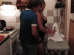 fun, hot, one, blonde, mature, amateur, chubby, kitchen