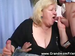 double blowjob, double, grandmother, granny, threesome, blowjob, group, mature