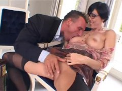 tattoo, hardcore, brunette, rimjob, doggystyle, big cock, anal, stockings, blowjob, on