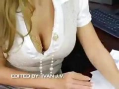 reality, cumshot, ass, amazing, blonde, office, pov point of view, hardcore, fuck, big tits