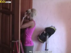 rus, bad, amateur, naakte, blond, eks-gf
