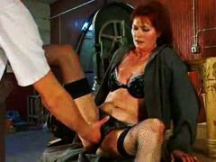 Cute mature redhead fucked in her cunt