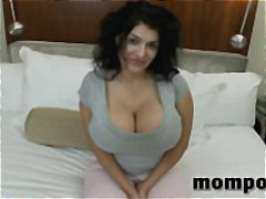 huge, huge tits, milf, hardcore, facial, housewife, tits, big tits, melons, mom