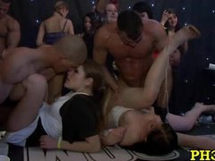 Hard core group sex in ht club