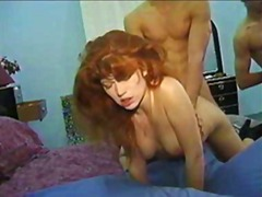 facial, threesome, blowjob, pussy, red, redhead, cumshot, classic, hairy, red head, vintage,