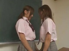tits, school girls, uniform, horny, girls kissing, school, lesbian, japanese, rubbing, kissing, asian, girls, their