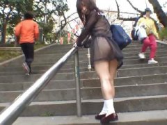 cute, asian, japanese, student, flasher, part4, public