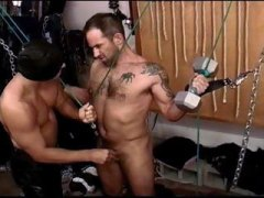 dungeon, muscled, stud, hairy, sexy, ball, big cock