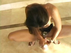 black and ebony, pink, masturbation, skinny, anal, babe, ebony, dildo,