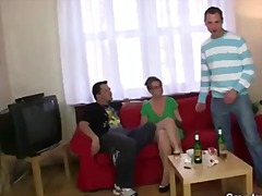 mmf, anal, mother, group, cock, on, granny, mom, mature