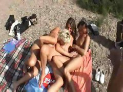 busty, milf, wives, have, amateur, german, squirt, three, blonde, public, on, lesbian, big tits, outdoor, beach