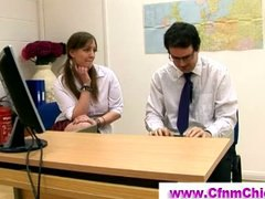 fetish, cfnm, guy, office, cfnm clothed, humiliate, humiliation