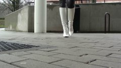 smoking, high, softcore, heels, leather, public nudity, high heels, boots, walking, teens