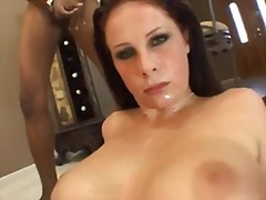Gianna Michaels, titjob, facial, gianna michaels, big tits, redhead, curvy, cumshot, blowbang