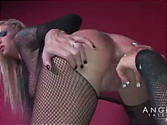 angelina valentine,  lesbian, pussy-licking, heels, big-tits, latex, angelina valentine, girl-on-girl, fishnet, dildo