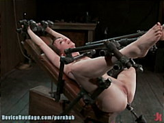 tied, devicebondage.com, domination, gagged, slave, restrained, brunettes, masochism, dildo, bound, sadism