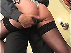 cumshot, upskirt, pussyrubbing, footjob, longhair, thong, ponytail, kissing, fetish, blonde