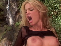 Jessica Drake, outdoor, high heels, pornstar, blowjob, couple, caucasian, tattoos, blonde