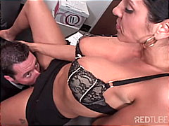 pornstar, couple, titfuck, secretary, office, caucasian, blowjob, cum shot, milf