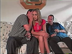 blond, deepthroat, double penetration, blowjob, dreier, anal