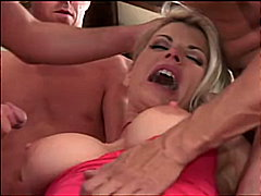 gangbang, blond, double penetration, deepthroat
