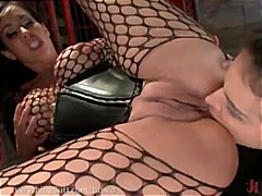 fetish, vibrator, round-ass, boots, strap-on, pussy-licking, dildo, stockings