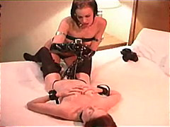 stockings, lesbian, latex, fetish, leather, oil, pussy-licking, massage, fingering, small-tits