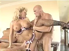 Busty blonde shyla stylez gets drilled hard by this bald dude