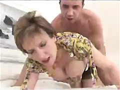 mom, housewife, titty fuck, older, granny, big tits