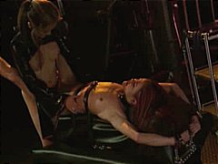 lesbian, lezdom, dildo, muff diving, latex, caning, corset, slave, bondage, strapon, handcuffed, gloves, bdsm