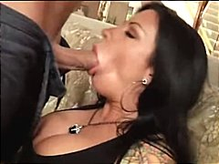 oral, blowjob, tattoo, hardcore, brunette, titty fuck, couple, squirt, milf