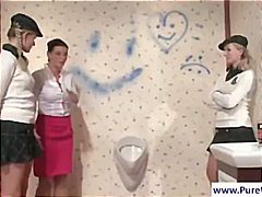 Wam scene with hotties in bathroom