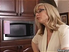Hot blonde milf fucvs sons friend to teach him a lesson