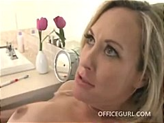 Blonde fucks a big dick