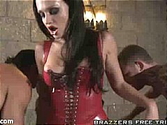 aletta ocean,  oral, aletta ocean, mmf, vampire, threesome, brunette, halloween, big tits, sex, double fucking, blowjob