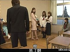 Japanese schoolgirl blows cock and gets her pussy pounded and fingered