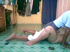 Malay teen couple action in home