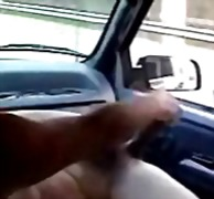 Great ! she masturbate totally nude in car for truck driver