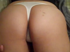 My girl in her white thongs