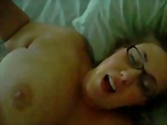 Chubby wife with glasses gets a facial