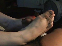 Ukrainian neighbour footjob